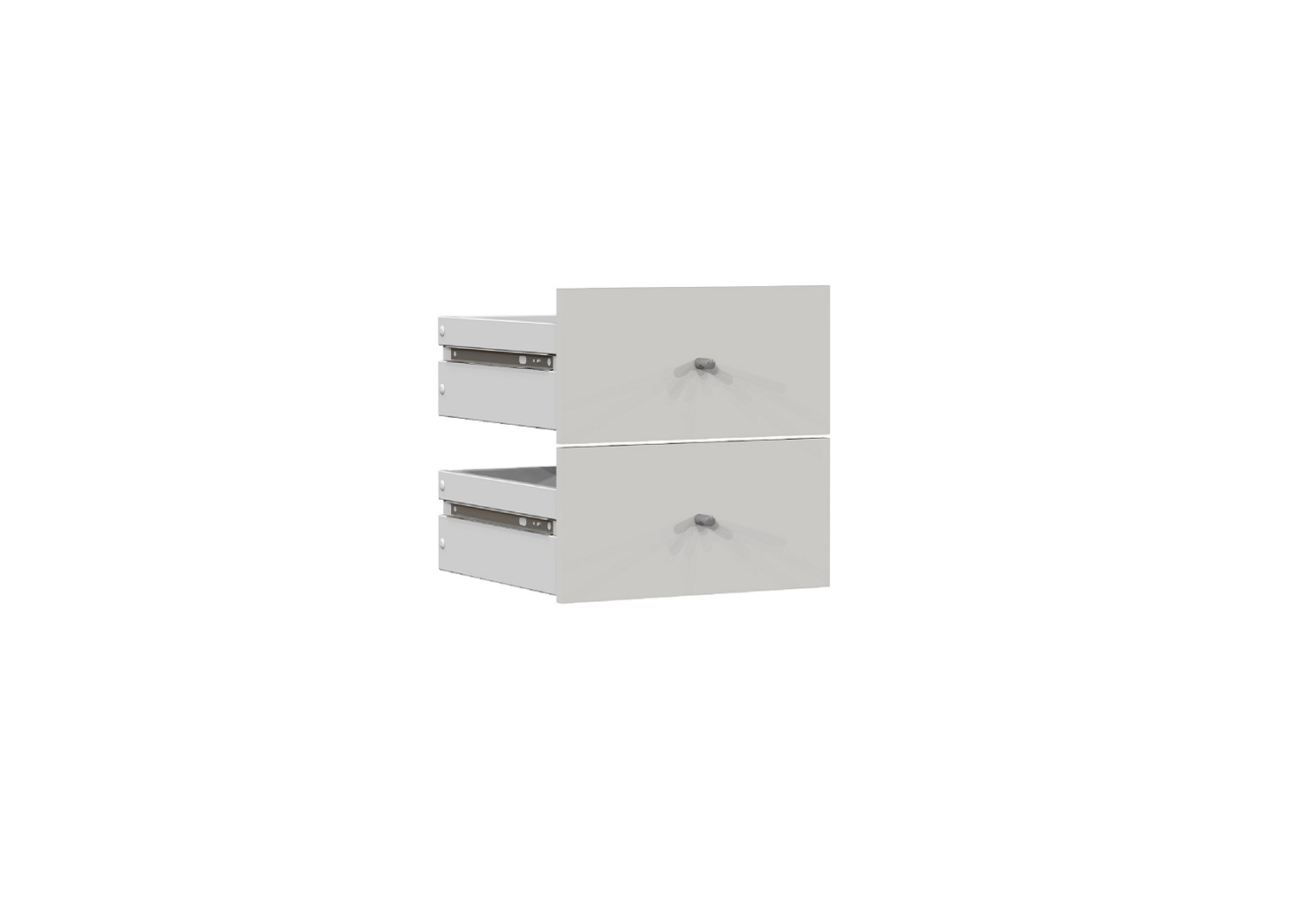 Bilrich Storage Furniture - Multi Kaz Accessory Set of 2 Drawers White
