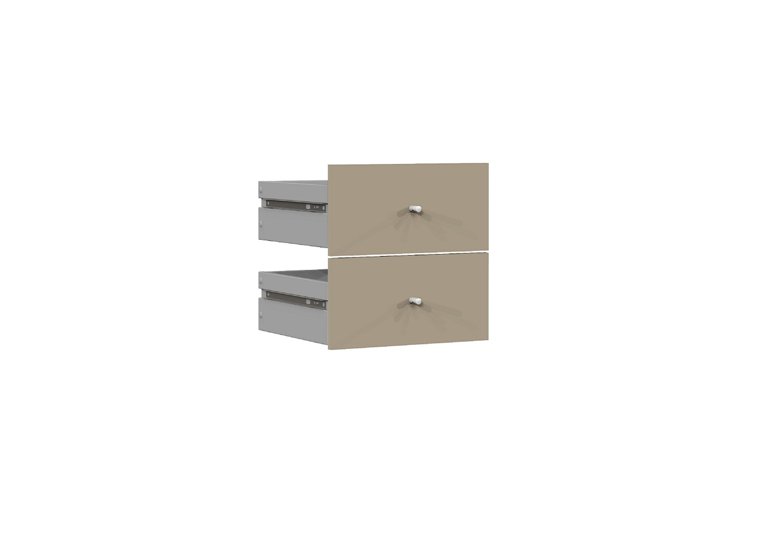 Bilrich Storage Furniture - Multi Kaz Accessory Set of 2 Drawers Taupe