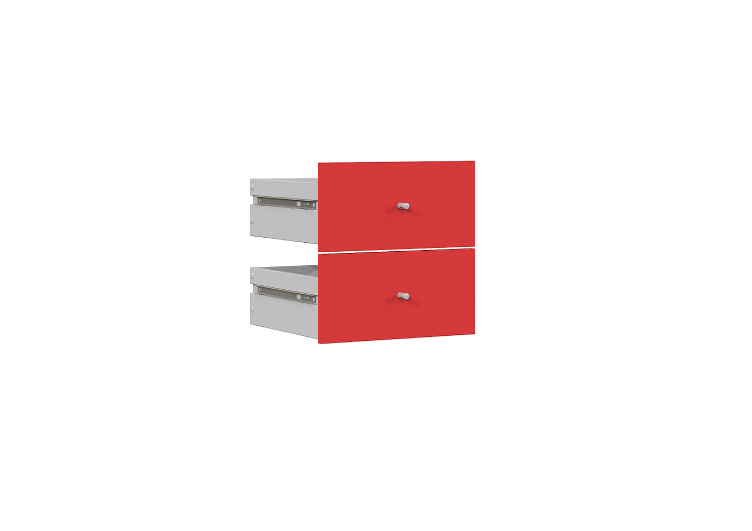 Bilrich Storage Furniture - Multi Kaz Accessory Set of 2 Drawers Red